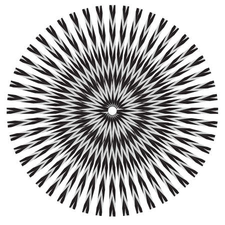 Abstract striped black and white Spiral design element. High Saturated. Gradients Different Geometrical Shapes