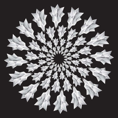 Flower, design element. Abstract geometric shapes, polyhedron from pyramids. Vector illustration Ilustração Vetorial