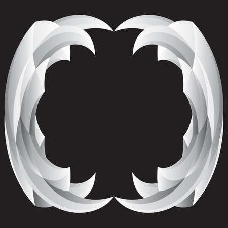 Design element with imitation of stone carving. Vector illustration Ilustração Vetorial