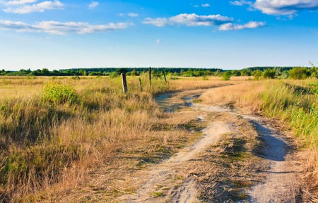 Dirty rural road in countryside Stock Photo - 11297293