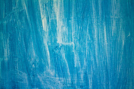Surface of old wood Paint over with white and blue photo
