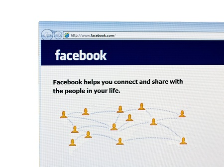 Homepage of Facebook com, the biggest social network website