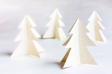 Christmas tree made of paper. Christmas card. photo