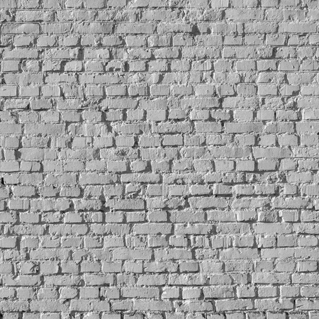 Old White Brick-Wall Close Up Background