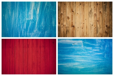 The Grunge Wood Texture With Natural Patterns  Surface of old wood Paint over  Set, Collage Stock Photo - 20109553