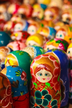 Colorful Russian nesting dolls matreshka Banco de Imagens