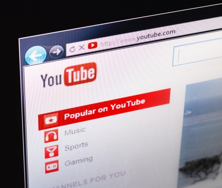 MINSK, BELARUS - AUG 27: YouTube announced that it would remove video responses for being an underused feature on August 27, 2013. Stock Photo - 24112490