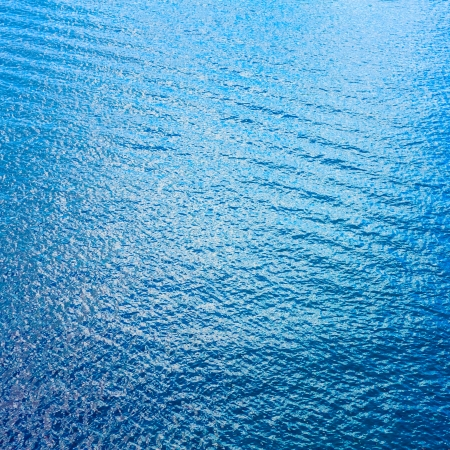 Sea Surface With Waves. View From Plane. Blue ocean background water texture.