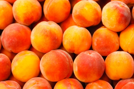 Peach close up fruit background Stockfoto