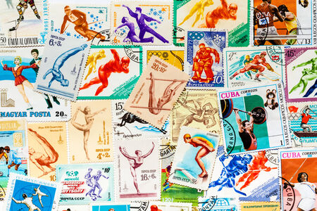 DIFFERENT COUNTRIES - CIRCA 1950-1990ss: Stamps printed in different countries shows olympic games, circa 1966-1987ss