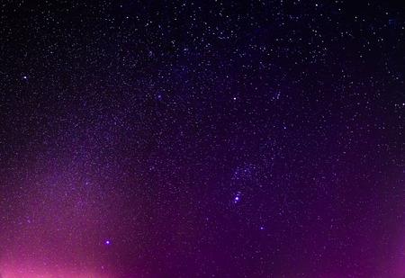 real night sky stars background Standard-Bild