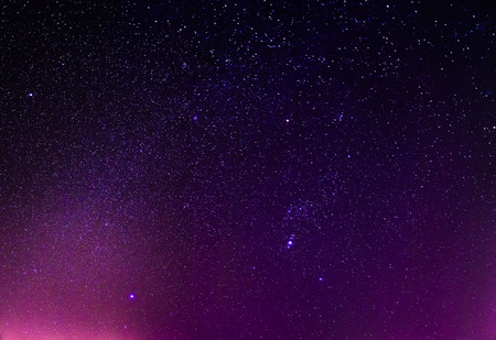 real night sky stars background Stock Photo