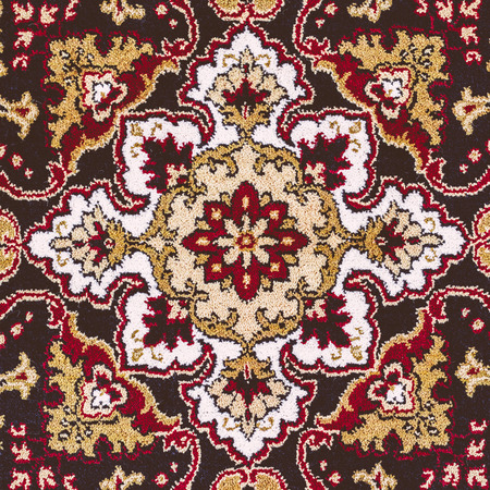 Red Oriental Persian Carpet Texture Background photo