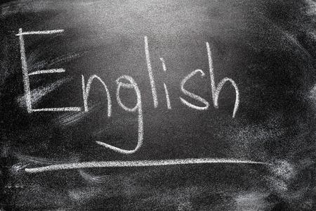 English Handwritten message on a school chalkboard writing