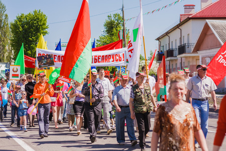 Gomel, BELARUS - MAY 9: Unidentified Belarusian people during the celebration of Victory Day on May 9, 2013 in Gomel, Belarus.