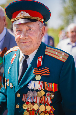 Gomel, BELARUS - MAY 9: Unidentified veterans during the celebration of Victory Day on May 9, 2013 in Gomel, Belarus.