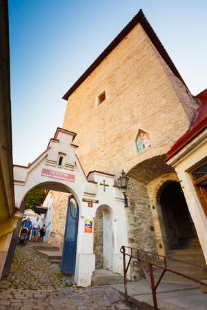 tallin: The Most Famous Street Of Old Part Tallinn, Estonia Stock Photo