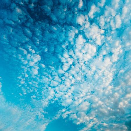 Bright Blue Sky Clouds Background