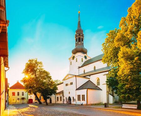 The Cathedral Of Saint Mary The Virgin (Dome Church) In Tallinn (Tallinna Neitsi Maarja Piiskoplik Toomkirik) Stock Photo