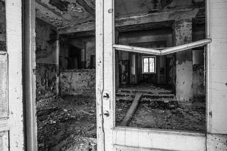 Abandoned House Interior In Chernobyl. School Of Pripyat. Chornobyl Disasters photo