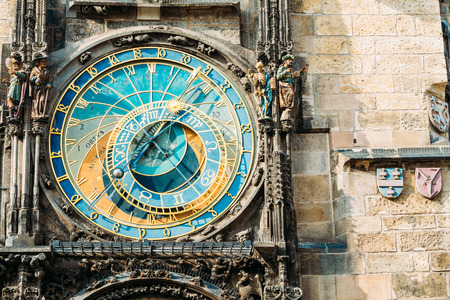 Prague Astronomical Clock At Old Town City Hall From 1410 Is The Third Oldest Astronomical Clock In World And Oldest One Still Working