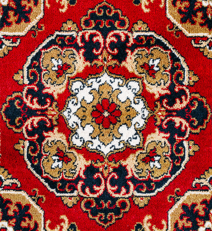 red carpet background: Red Oriental Persian Carpet Texture Background