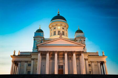 helsinki: Helsinki Cathedral, Helsinki, Finland. Summer Sunset