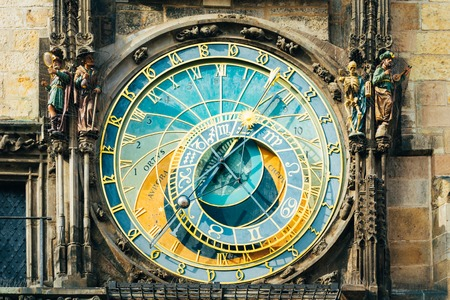 bohemia: Prague Astronomical Clock At Old Town City Hall