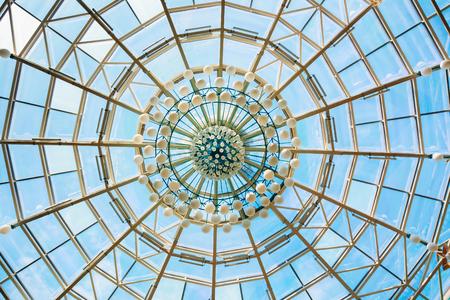 Modern roof of shopping center in Belarussian capital Minsk, Belarus Stock Photo