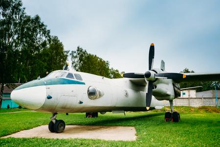 freighter: Russian Freighter Aircraft Plane AN-26. Soviet military transport aircraft