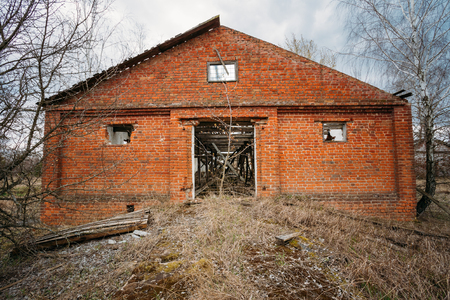 disposed: Abandoned Shed In Belarusian village. Chornobyl disasters. These abandoned homes and whole villages must be disposed
