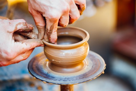 design ideas: Pottery Craft Wheel Ceramic Clay Potter Human Hand