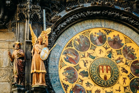 czech culture: Prague Astronomical Clock At Old Town City Hall From 1410 Is The Third Oldest Astronomical Clock In World And Oldest One Still Working