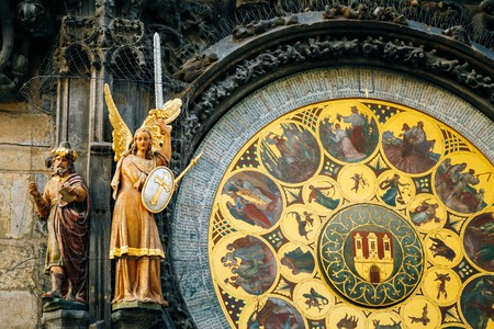 czech culture: Prague Astronomical Clock At Old Town City Hall