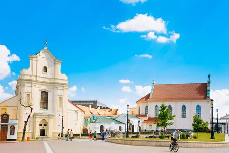 scientific literature: MINSK, BELARUS - June 2, 2015: St. Joseph Church in Minsk, Belarus. Now in a former church is located archive of scientific and technical documentation and archive of literature and art of Belarus