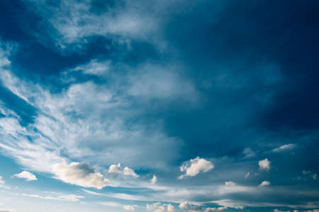 fluffy clouds: Blue Sky and Fluffy Clouds, Bright Cloudscape