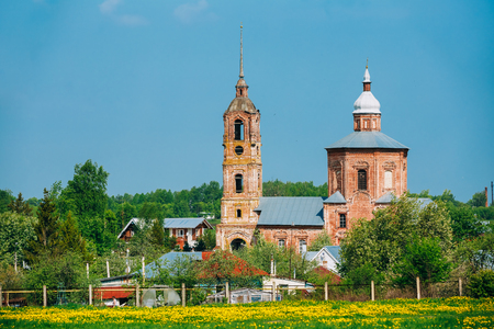 architectural heritage of the world: Church of Saints Boris and Gleb in Suzdal, Russia Stock Photo