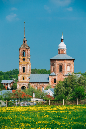 architectural heritage of the world: Church of Saints Boris and Gleb in Suzdal, Russia. Golden Ring of Russia