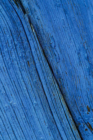 Old Blue Painted Obsolete Wooden Board Background Texture
