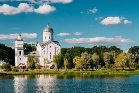 alexander nevsky: St. Alexander Nevsky Church in Gomel, Belarus. Building of Orthodox Church. Stock Photo