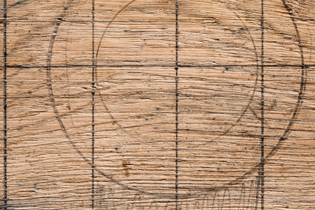 lined: Lined old vintage brown wooden surface background