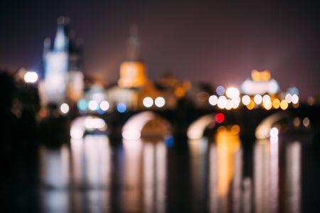 boke: Abstract boke, blur, blurred background of Prague, Czech Republic. Stock Photo