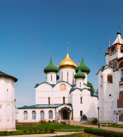 transfiguration: Transfiguration Cathedral in Monastery of Saint Euthymius in Suzdal, Russia. The monastery was founded in the 14th century Stock Photo