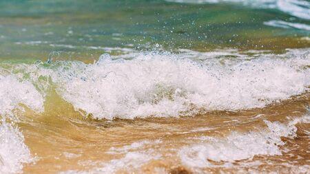 Fresh Sea Ocean Waves Ocean Foam background.