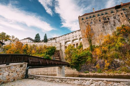Castle in Cesky Krumlov, Czech republic. Sunny autumn day.