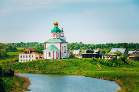 prophet: Church of Elijah the Prophet or Elias Church - church in Suzdal, Russia. Built in 1744. Golden Ring of Russia Stock Photo