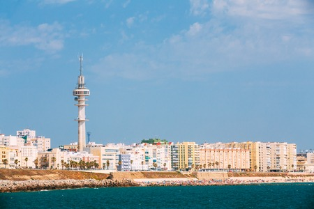 cadiz: Cityscape of Cadiz town in southern Spain.