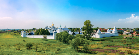 pokrovsky: Panorama of Convent of the Intercession or Pokrovsky monastery in Suzdal, Russia. The monastery was founded in the 14th century.