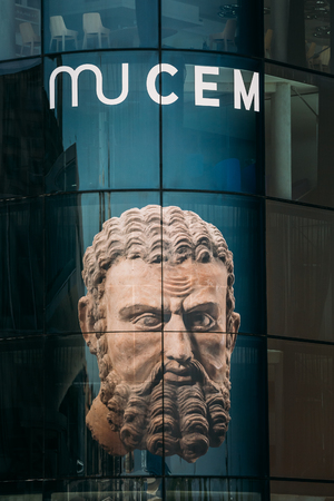 civilizations: Marseille, France  - June 30, 2015: MUCEM, civilizations museum of Europe and the Mediterranean.