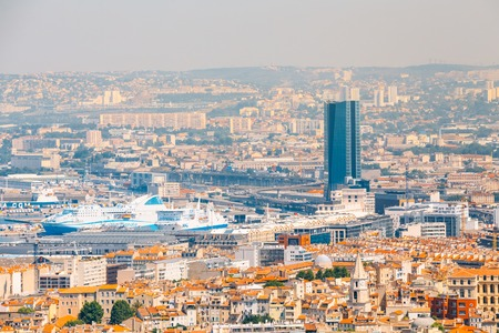 marseille: Marseille, France  - June 30, 2015: Urban view, cityscape of Marseille, France. Editorial